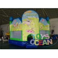 Wholesale Green Indoor Playground With Bouncy Castle / Funny Bouncy Jumping Castles from china suppliers