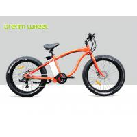 Wholesale High Powered 48V 26 Inch Electric Beach Bike 750W Orange Aluminum Alloy 6061 from china suppliers