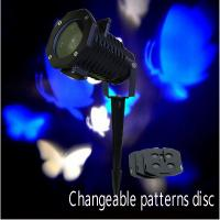 Quality Big brightness LED Christmas Patterns outdoor projector with changeable disc for sale