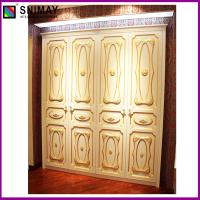 China Gold Modern Bedroom Swing Door Wardrobe , living room cabinets on sale