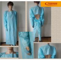 Wholesale CPE Material Long Sleeve Disposable Gowns For Hospitals , Disposable Protective Gowns from china suppliers