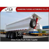 Wholesale 3 Axle Dump Semi Trailers  , Hydraulic Cylinder Tipping / Tipper Trailer from china suppliers