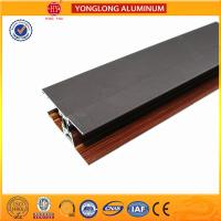 Wholesale Custom Wood Finished Aluminium Profiles For Windows And Doors from china suppliers
