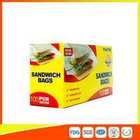 Wholesale Food Grade Plastic Clear Recyclable Sandwich Bags , Reusable Bag With Zipper from china suppliers
