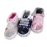 Buy cheap China Factory Canvas sport Baby girl designed 0-2 years Lace-up baby shoes from wholesalers