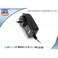 Wholesale AC DC Wall Plug Adapter 12V 2A / Wall Mount Power Supply Black Color from china suppliers