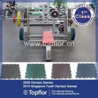 Wholesale Topflor UV caoting Rubber flooring interlock floor from china suppliers
