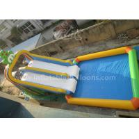 Quality Nontoxic Double Lanes Inflatable Frog Water Slide With 5X5M Big Water Pool for sale