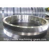 Wholesale Iron Large Pitch Diameter Gear Wheels For Cement / Mining Facilities from china suppliers