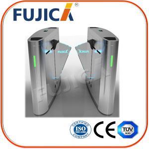 Quality Biometrics Access Control Office Building Flap Barrier Turnstile for sale