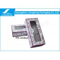 Wholesale Fashionable False Eyelash Packaging Cardboard Box With Clear Window from china suppliers