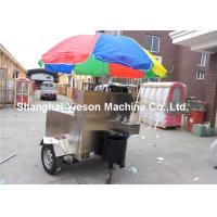 Wholesale Fast Food Trailer Stainless Steel Hot Dog Cart  Glass window with cabinets from china suppliers