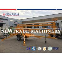 Buy cheap 220V / 380V / 415V Hydraulic Lifting Platform Boom Lift , Hydraulic Platform Lift from wholesalers