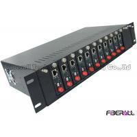 Wholesale Standalone Type Fiber Media Converter 14 Slots Rack With Dual Power Supply from china suppliers