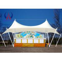 Wholesale Steel Rope Stretched Fabric Canopy Landscape Design , Commercial Sun Shade Canopy from china suppliers