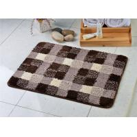 Wholesale Black white mix fashion microfiber anti slip floor mat for bath room / toilet from china suppliers