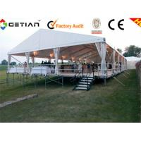 Portable Tent Gray / Black Interlocking Sports Flooring For Party