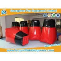 Quality Giant PVC Inflatable Sport Games Bunkers Red Barricades For Outdoor 1 * 1 * 1.6m for sale