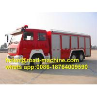 Wholesale SINOTRUK HOWO Fire Fighting Trucks , water tower fire truck 6x4 375hp Engine from china suppliers