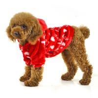 Wholesale Red and blue color fleece warm dog clothes from china suppliers