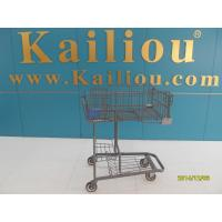 Wholesale Wire foldable basket shopping trolleys for disabled , 4 swivel flat casters from china suppliers