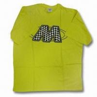 Wholesale Racing T-shirt, Made of 100% Combed Cotton Jersey, OEM Orders are Welcome from china suppliers