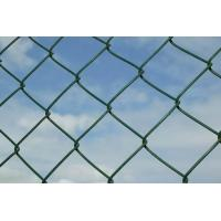Quality 9 Gauge Chain Link Wire Mesh , Sport Field Plastic Coated Wire Mesh for sale