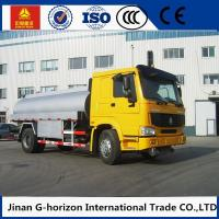 Quality HOWO 8X4 Oil Tank Truck Trailer / Fuel Tank Truck Single - Plate Dry Clutch for sale