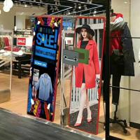 Buy cheap P3 Available Video Ultra Thin Advertising Led Mirror Display Screen from wholesalers