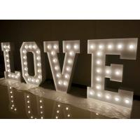 Wholesale LED Large Love Letters For Wedding , Lit Marquee Letters With Light Bulbs from china suppliers