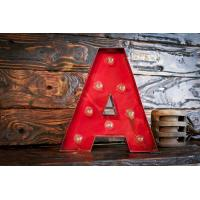 Wholesale Red LED Lighted Marquee Letter Lights , Alphabet Vintage Illuminated Marquee Letters from china suppliers