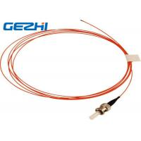 Wholesale Orange OM2 Fiber Optic Patch Cord ST MM SX , 50 / 125 um 2 Meters 900um Pigtail Optical Fiber from china suppliers