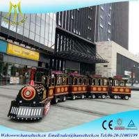 Wholesale Hansel best selling children electric train trackless train electric amusement kids train for sale supplier from china suppliers