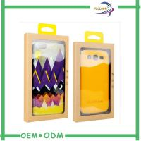 Wholesale Emboss Logo Kraft Paper Cell Phone Case Retail Packaging With Clear Pvc Window from china suppliers