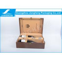 Wholesale Luxury 2 Bottle Wine Packing Boxes Leather Elegant With Portable Handle from china suppliers