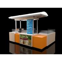 Quality Indoor juice bar food kiosk for shopping mall for sale