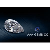 Wholesale Pear Cut Moissanite Loose Gemstones , Synthetic Created Moissanite loose diamond from china suppliers
