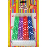 Wholesale 24 Holder OEM Spiral Birthday Candles Dots Paraffin Wax For Baby Party from china suppliers