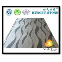 China Xiamen Kungfu Stone Ltd supply Wave Grey White Marble Mosaic In High quality and cheap price on sale
