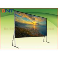 Wholesale 3D High Gain Fast Fold 16:9 120 Inch Projector Screen With Stand from china suppliers