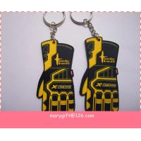 Wholesale TOP quanlity customized glove shape pvc keyring from china suppliers