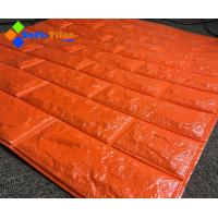 Wholesale Orange Red 3D PE Foam Wall Sticker Panels Wallpaper Decor from china suppliers
