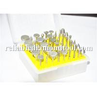 "Wholesale 120 / 200 Grit Mini Drills Diamond Mounted Points 50Pcs Per Set 1/8"" Shank from china suppliers"