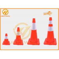 Wholesale Roadside TPE Traffic Safety Cones With Reflective Sheeting , 45/70/90cm from china suppliers