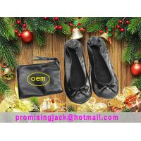 Wholesale 2018 New Christmas Gift China Silver and Black Folding Ballet Slippers in a Purse for Dancing Party from china suppliers