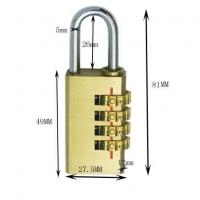 Wholesale 4 Digit brass Combination Padlock from china suppliers