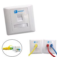 Wholesale Wall Mount RJ45 Socket Single Port Keystone Faceplate 86*86mm from china suppliers