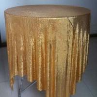 Wholesale Decorative Aluminum Sequins Fabric Mesh For Table Cloth / Table Runner from china suppliers