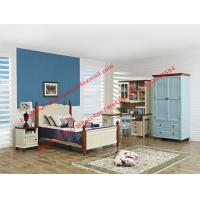 Wholesale Hotel style apartment interior furniture for single people bedroom set by double bed and read bookcase set with armoire from china suppliers
