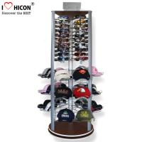 Wholesale Fashion Store Rotating Outdoor Sports Product Display Stands / Racks Wood Base from china suppliers